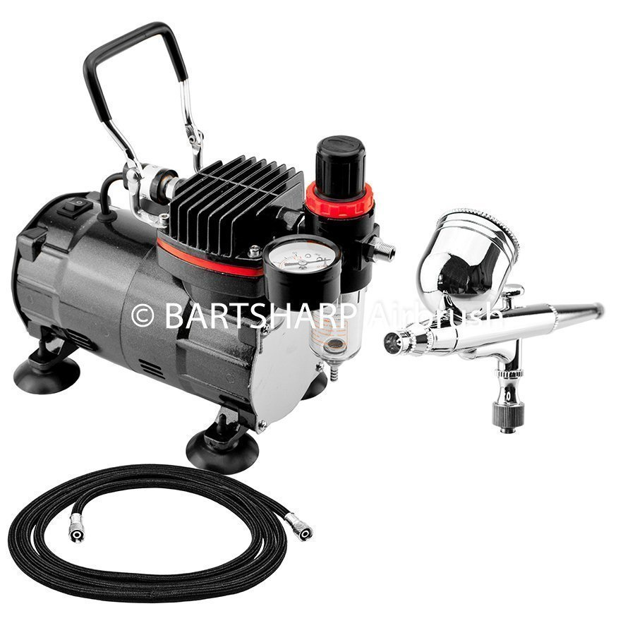 BARTSHARP Airbrush Compressor Kit TC802 130 Airbrush