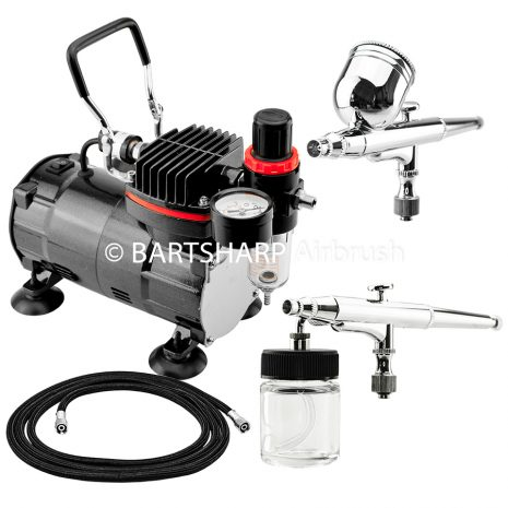 BARTSHARP Airbrush Compressor Kit TC802 130 and 133 Airbrush