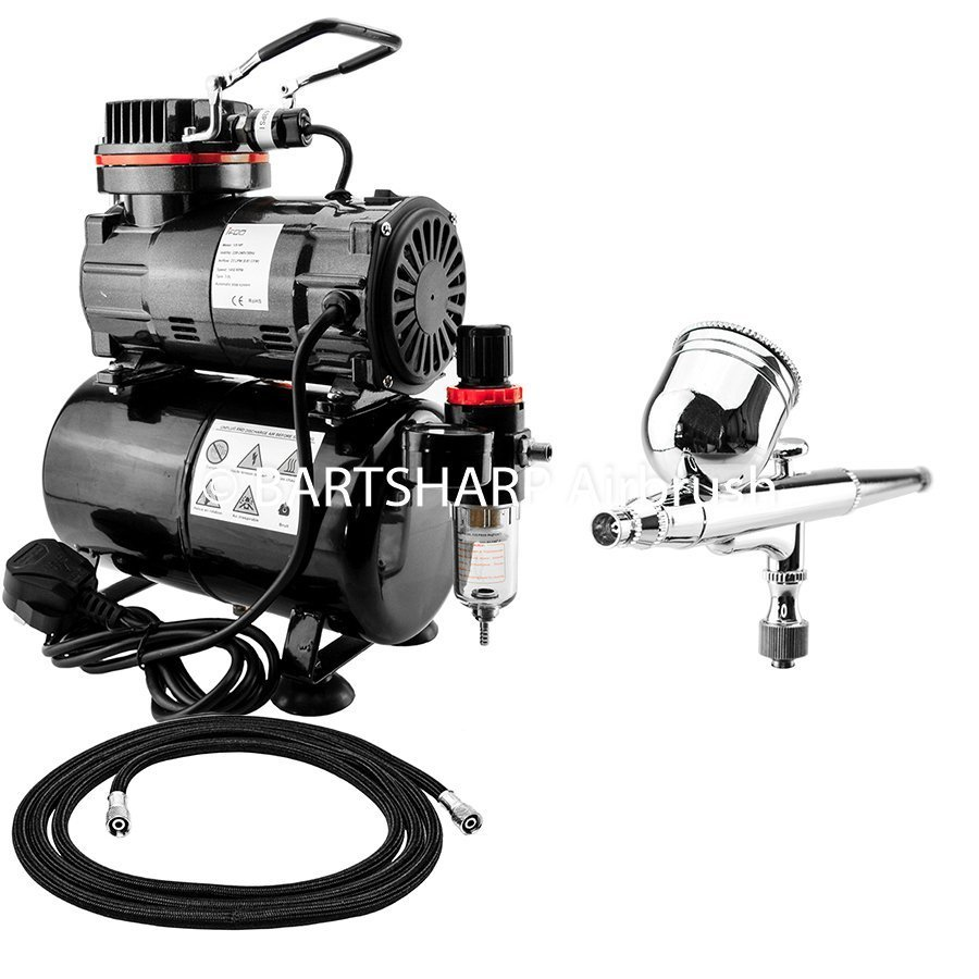 BARTSHARP Airbrush Compressor Kit TC80T 130 Airbrush