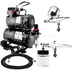 BARTSHARP Airbrush Compressor Kit TC80T 130 and 133 Airbrush