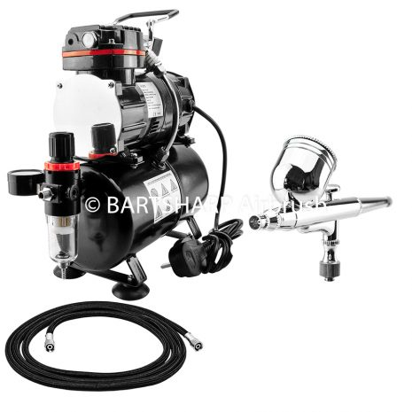 BARTSHARP Airbrush Compressor Kit TC88T 130 Airbrush