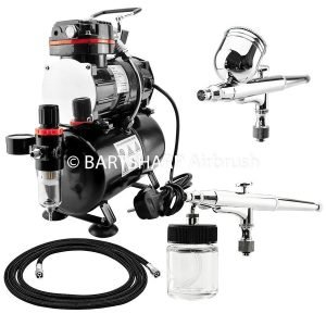 BARTSHARP Airbrush Compressor Kit TC88T 130 and 133 Airbrush