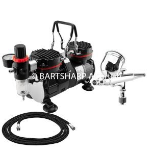 BARTSHARP Airbrush Compressor Kit TC90 130 Airbrush