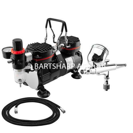 BARTSHARP Airbrush Compressor Kit TC90 130 Airbrush