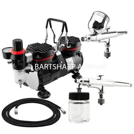 BARTSHARP Airbrush Compressor Kit TC90 130 and 133 Airbrush