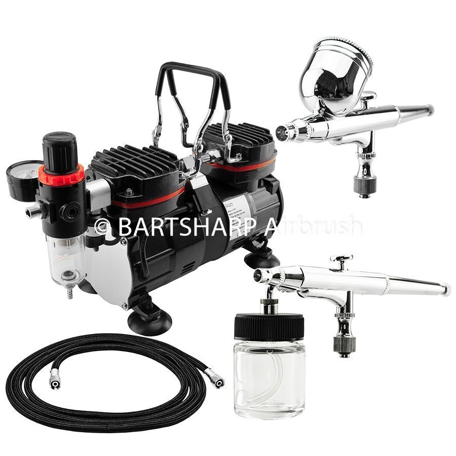 BARTSHARP Airbrush Compressor Kit TC90 130 and 133 Airbrush