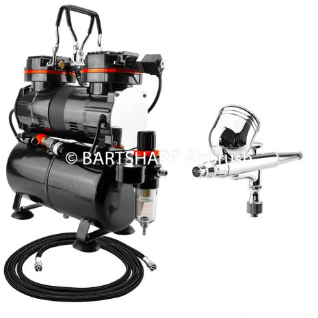 BARTSHARP Airbrush Compressor Kit TC90T 130 Airbrush