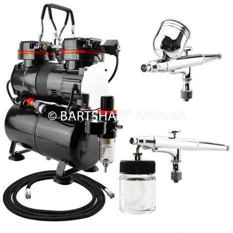 BARTSHARP Airbrush Compressor Kit TC90T 130 and 133 Airbrush