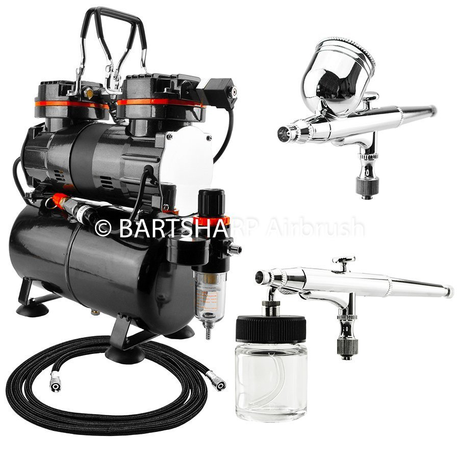 BARTSHARP Airbrush Compressor Kit TC90T 130 and 133 Airbrush