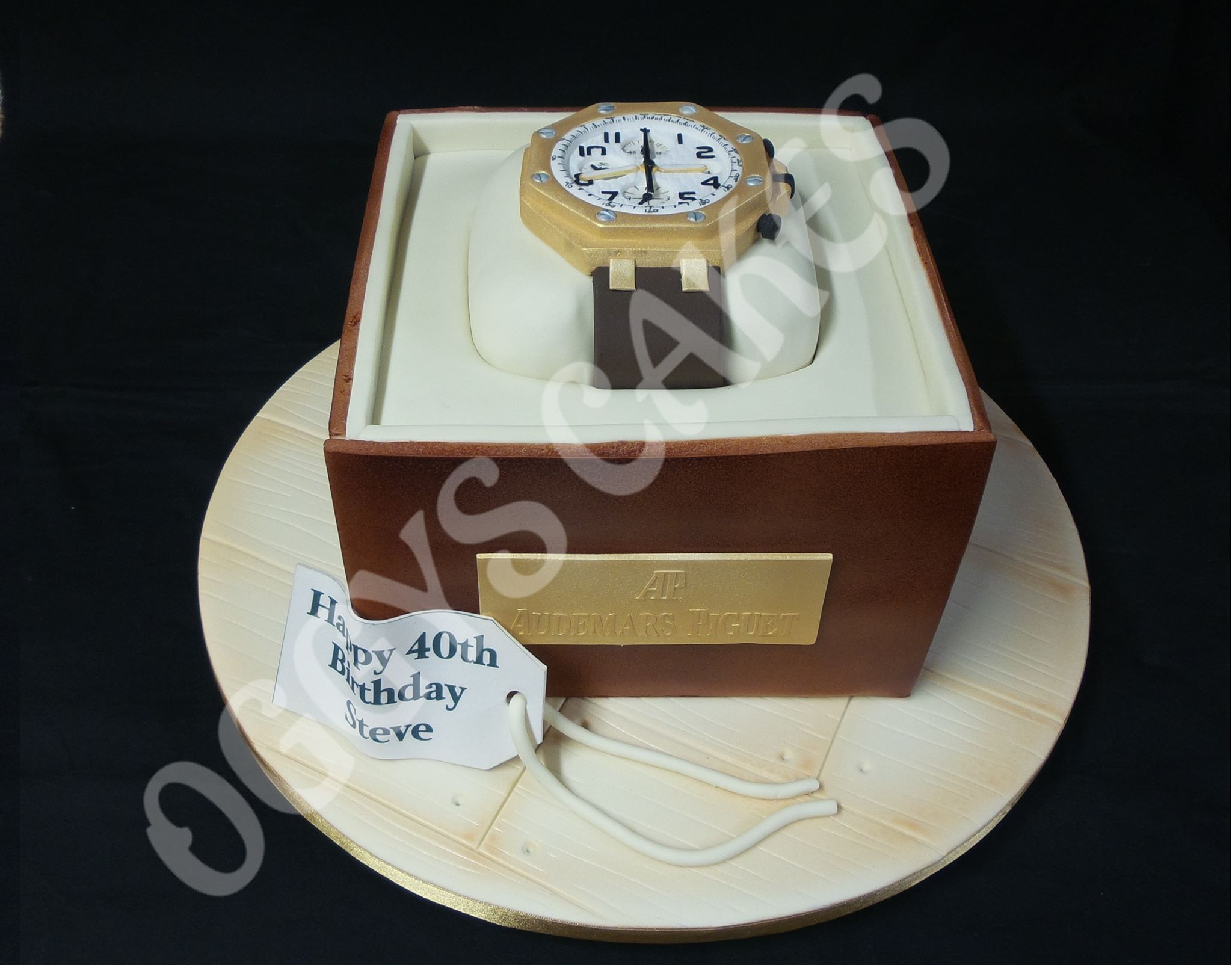Bartsharp 180 Airbrush Oggys Cakes - Wrist Watch