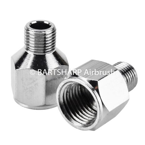 BARTSHARP Airbrush Air Hose Connector 1 Quarter BSP Female to 1 Eighth BSP Male