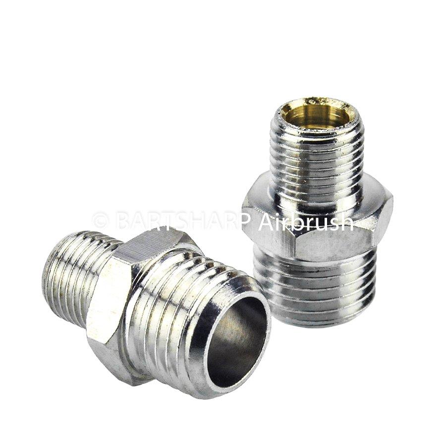 BARTSHARP Airbrush Air Hose Connector 1 Quarter BSP Male to 1 Eighth BSP Male