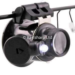 BARTSHARP Airbrush Magnification Glasses 9892A Single Lens