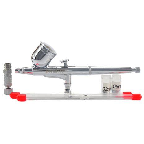BARTSHARP Airbrush 130S Dual Action Gravity Feed Airbrush Kit