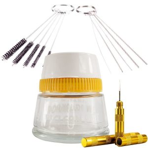 BARTSHARP Airbrush Cleaning Pot Cleaning Needles and Cleaning Brushes and Wash Needle