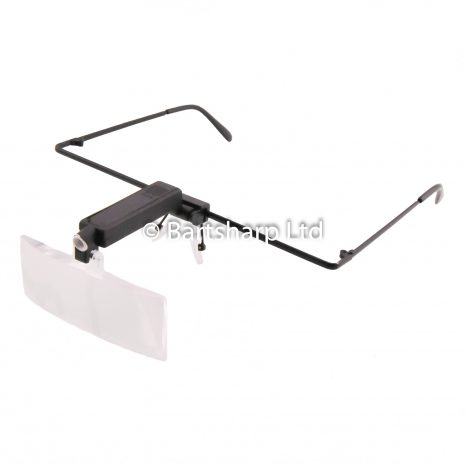 Head Worn Magnification Glasses With LED Light