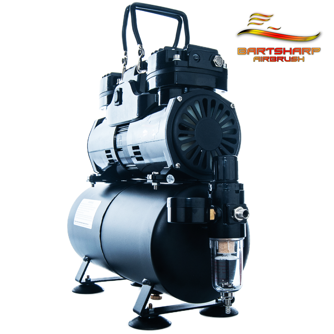 Airbrush Compressor With Tank Electric Fan Twin Piston